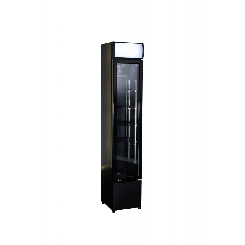 Réfrigérateur à boisson avec porte en verre Noir - Combisteel