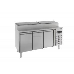 Saladette 3 portes réfrigérée avec rangements 7450.0104 - Combisteel