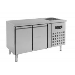 Table réfrigérée avec plonge 2 portes 7450.0210 - Combisteel