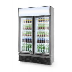 Armoire réfrigérée double porte vitrée 750L