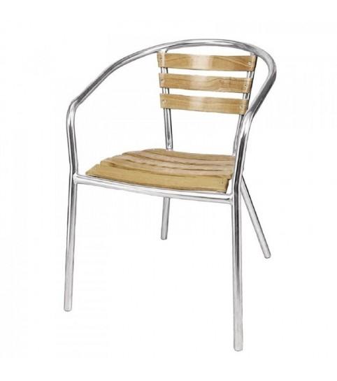 Chaises en aluminium